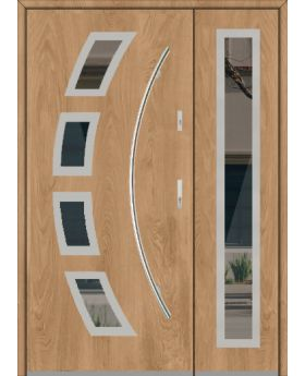 Fargo 21 A DB - exterior front entry door with side panel