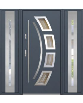 Fargo 21 T - exterior front entry door with 2 side panels