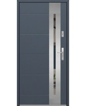 Fargo 26 - stainless steel front door