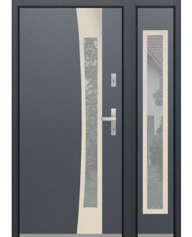 custom configuration - Fargo door with no open right side panel (view from the outside)