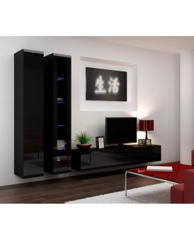 Seattle 12 - Black wall unit
