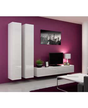 Seattle 13 - gloss white modern tv wall unit