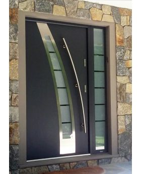 Fargo 36 - modern stainless steel front door