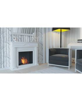 Detroit - white fireplace
