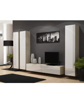 Seattle D4 - white entertainment center